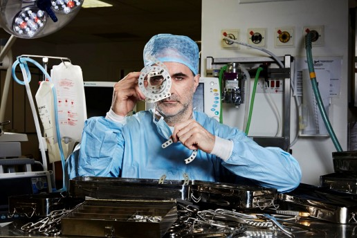 Noel Fitzpatrick with bionic frame